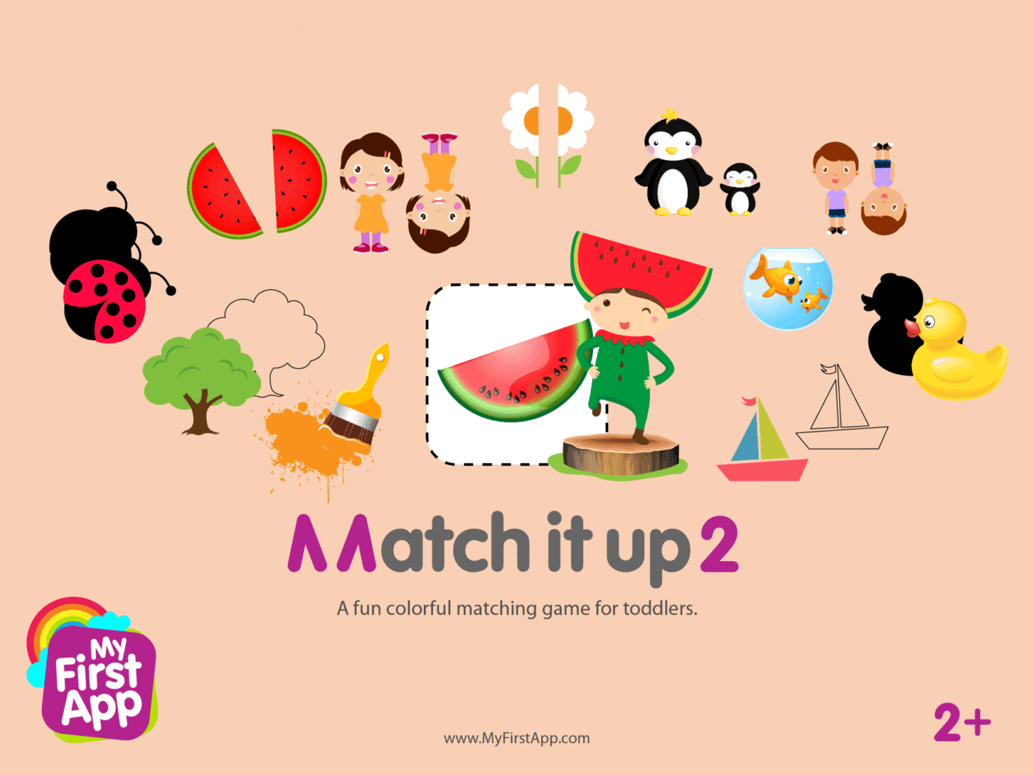 A fun colorful matching game for toddlers.