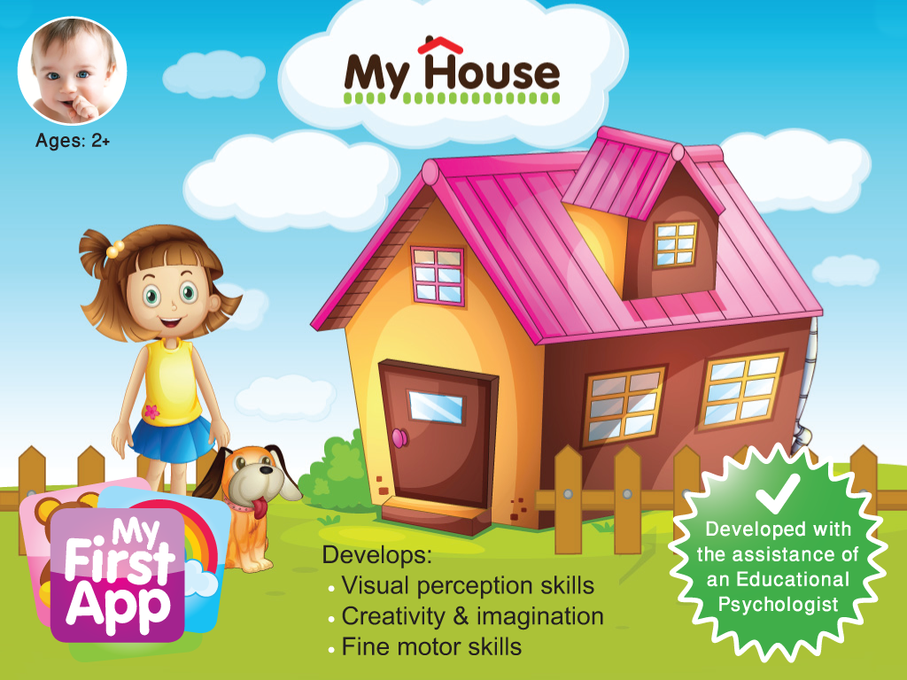 Play house by designing and decorating a home.